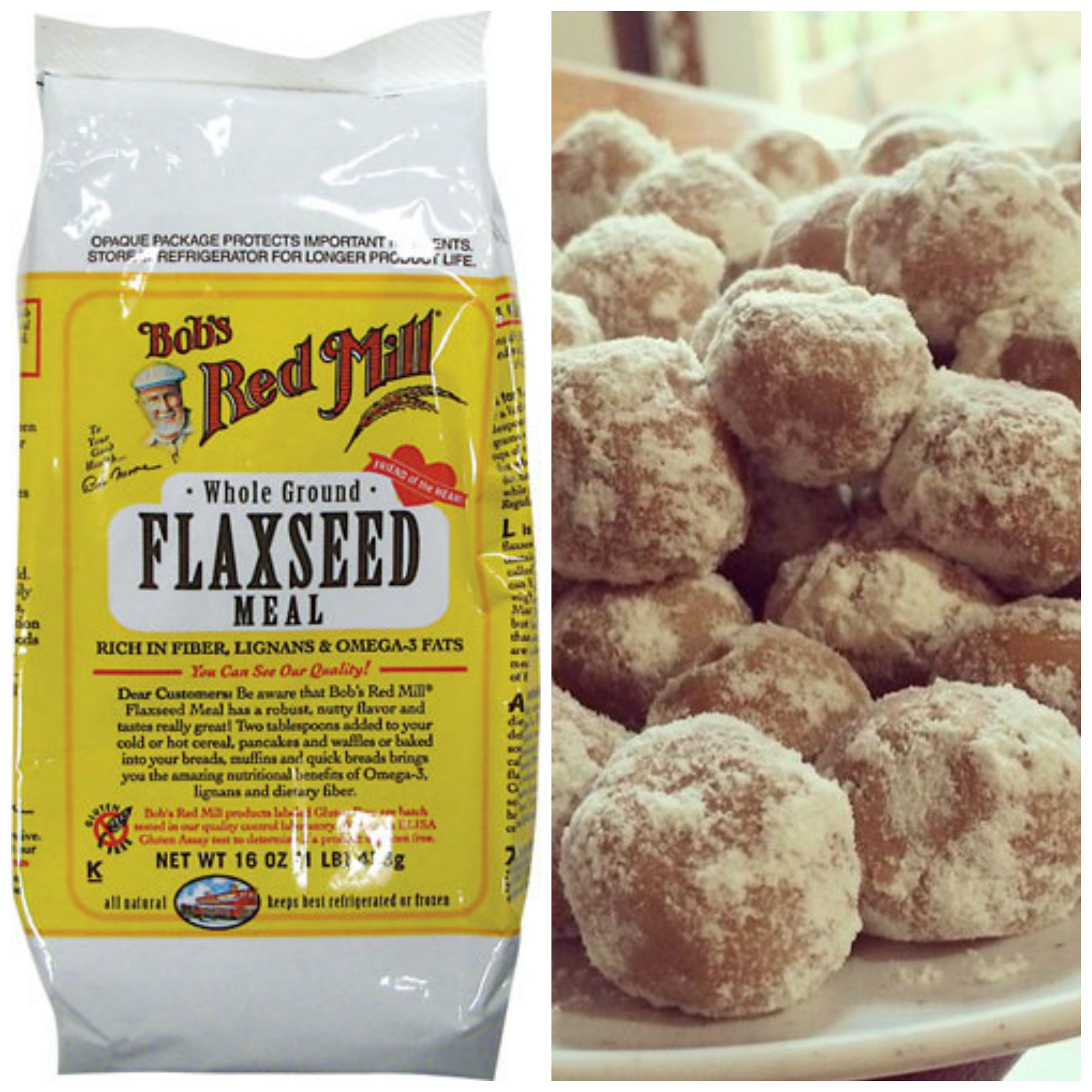 peanut butter protein balls flaxeed